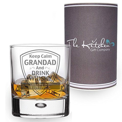 From 14.95 Whisky Glass - Keep Calm Grandad And Drink Whisky Tumbler - Gift Boxed (grandad)