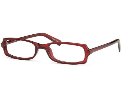 Burgundy rectangular glasses from EyeglassFactoryOutlet.com