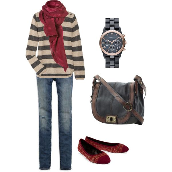 """""""Fall Relaxed Weekend Outfit"""" by lizzyb323 on Polyvore"""