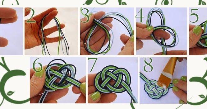 Questo bracciale è realizzato in cordini di tre colori: blu, vede e bianco. I cordini sono sistemati tra di loro in modo che non si attorcig...