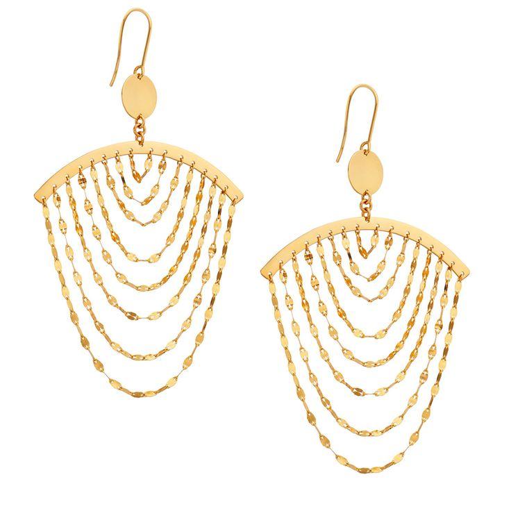 Lana Jewelry 14k Medium Three-Tiered Hoop Earrings 9CCShQEE