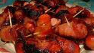 Saucisses enroulées de bacon