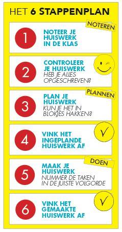 In 6 stappen je huiswerk plannen - planning & agenda