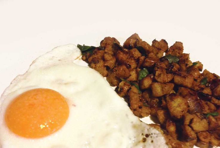 dukan-recipes: Seitan with an egg - Σεϊτάν με αυγό