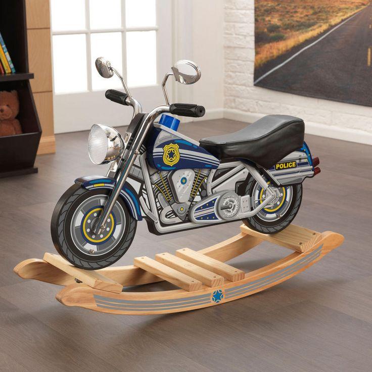 Kidkraft Polizei-Schaukelmotorrad Rockin Police Motorcycle