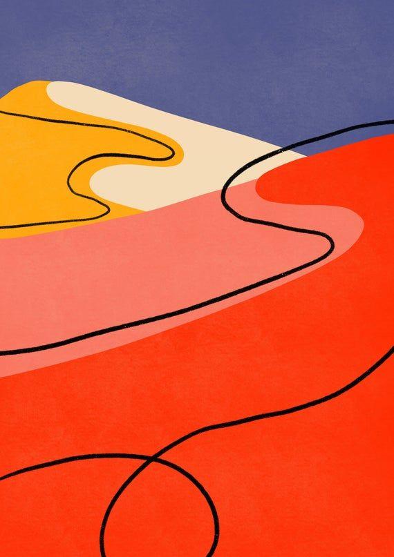 Sahara POSTER | Sahara Desert Print, Desert Art, Home Decor, Office Decor, Minimalist Modern Abstract Art Print, Living Room Decor Landscape