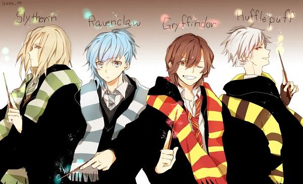 Anime Characters Hogwarts Houses : Utapri quartet night hogwarts outfits