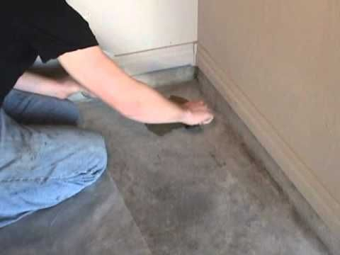 Turning plain old concrete into a natural stone looking floor
