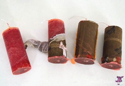 Upcycling - Kerzen aus Klorollen basteln