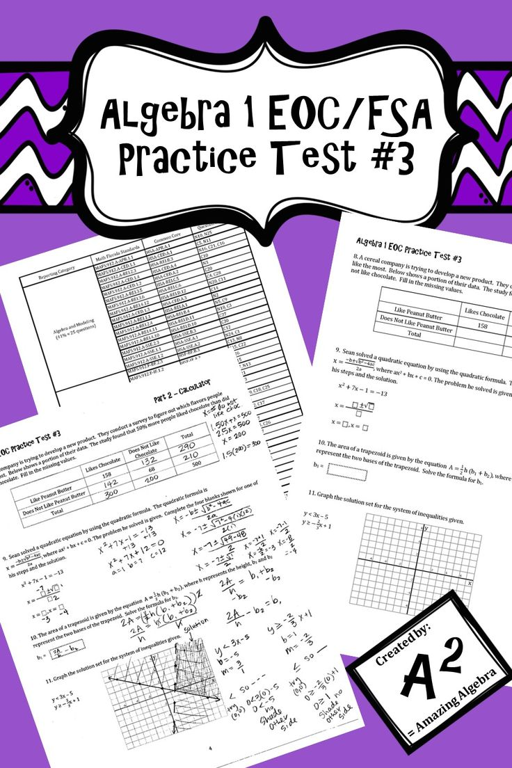 15 best Algebra 1 - EOC Review images on Pinterest | Estudiantes ...
