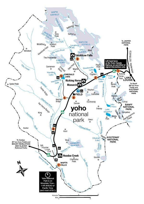 Yoho National Park Canada Map The Ultimate Guide to Banff, Jasper & Yoho Campgrounds | Yoho