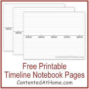 Free Printable Timeline Notebook Pages-mystery of history