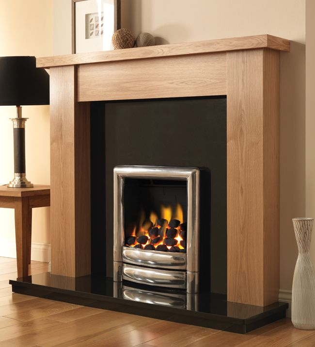 Electric Fire And Surround Part - 20: Pureglow Fires, Stanford Fire Surround With Down Lights