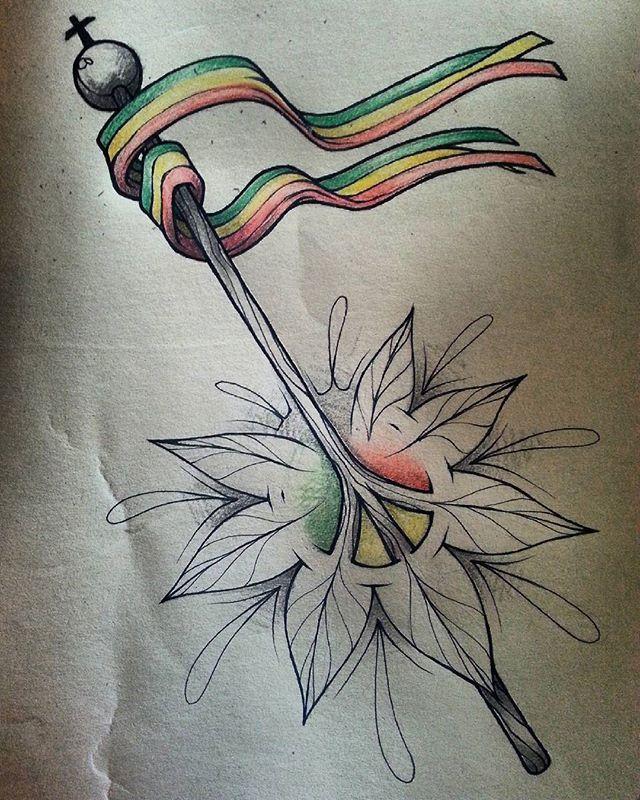 Mrgantattoo scketch drawing mrganoriginal rasta rastaflag rastalady inked inkedmag - Dessin de rasta ...