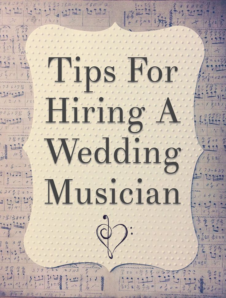 Tips For Choosing A Wedding Band Or Musician