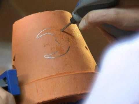 Crear a una lumbrera de la terracota con el Dremel Stylus herramienta rotatoria - YouTube