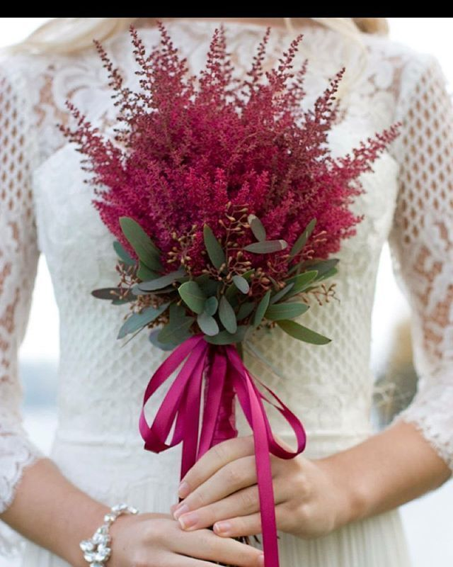 Red Astilbe Bouquet Red Bride Photoshoot Ayrshireflorist Autumn Ribbon Flowers Astilbe Bridetobe In 2020 Astilbe Bouquet Red Bouquet Brides Flowers Bouquet