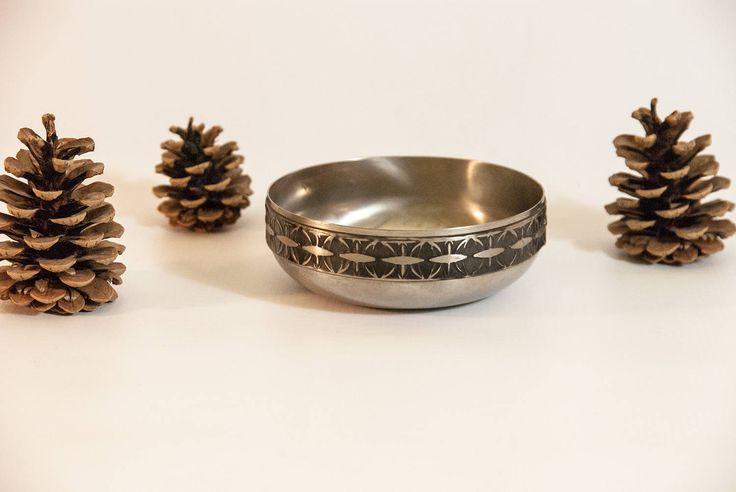 Metal bowl, vintage metal dish, Viking wedding ring dish, Viking bowl, norwegian serving dish, silver bowl,  small bowl, metal ring bowl by VintageEuropeDesign on Etsy