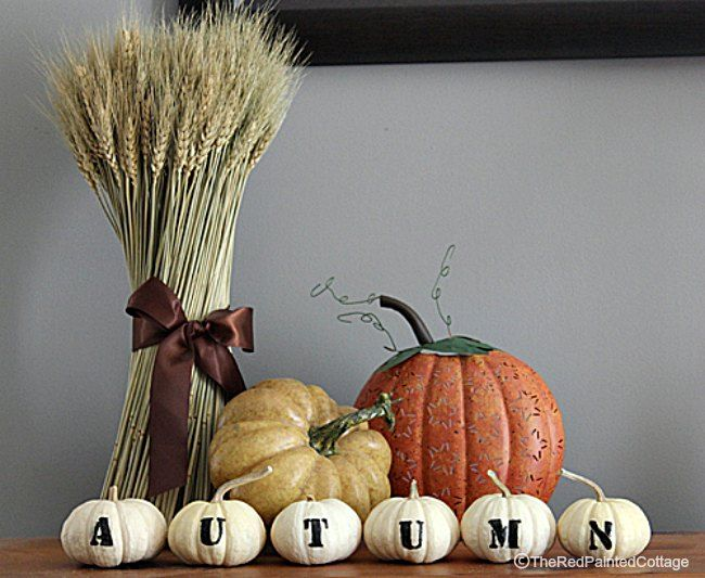 How To Make Pumpkins With Letters For AUTUMN - The Red Painted Cottage