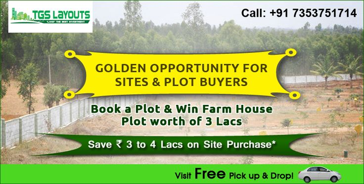 """TGS Layouts is offering best Plots / Lands for Sale in Bangalore & it's surrounding areas. Select your Plots / Lands as per your requirement. Participate in """"Sites Ratha Yatra"""" to visit 15+ different layouts at different locations. #PlotsinBangalore"""