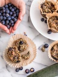 Blueberry + Bacon Zucchini Muffins (Gluten Free) | Root + Revel