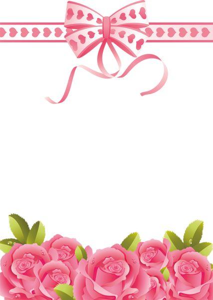 Pink Roses Transparent PNG Photo Frame