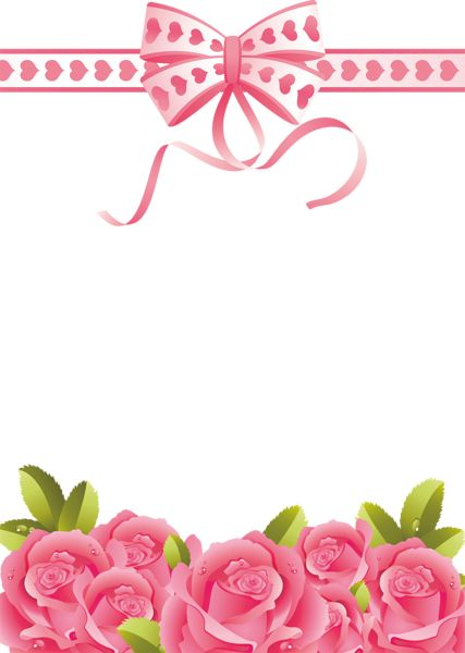 Pink Roses Transparent PNG Photo Frame