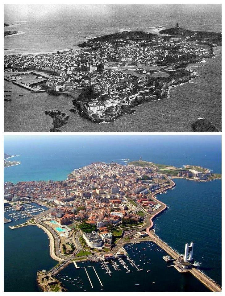 Coruña Antes / Coruña Despues