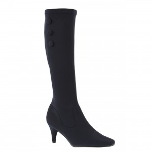 Low heel boot shoe for women, a dressy, fashion shoe in navy color by Annie at $89.00