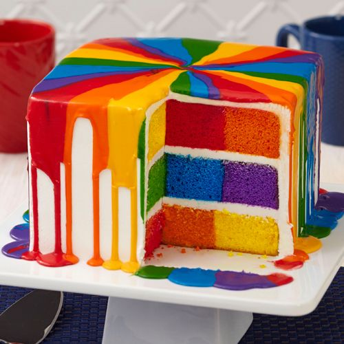 How To Make A Checkerboard Cake With  Colors
