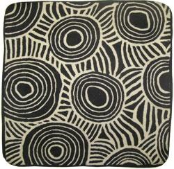 Aboriginal design, Hand stitched wool, design: Keringke Art Center