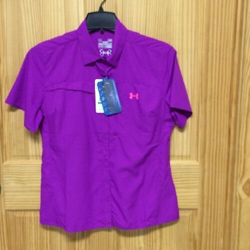Women 39 s under armour offshore heat gear purple short for Fishing jerseys for sale