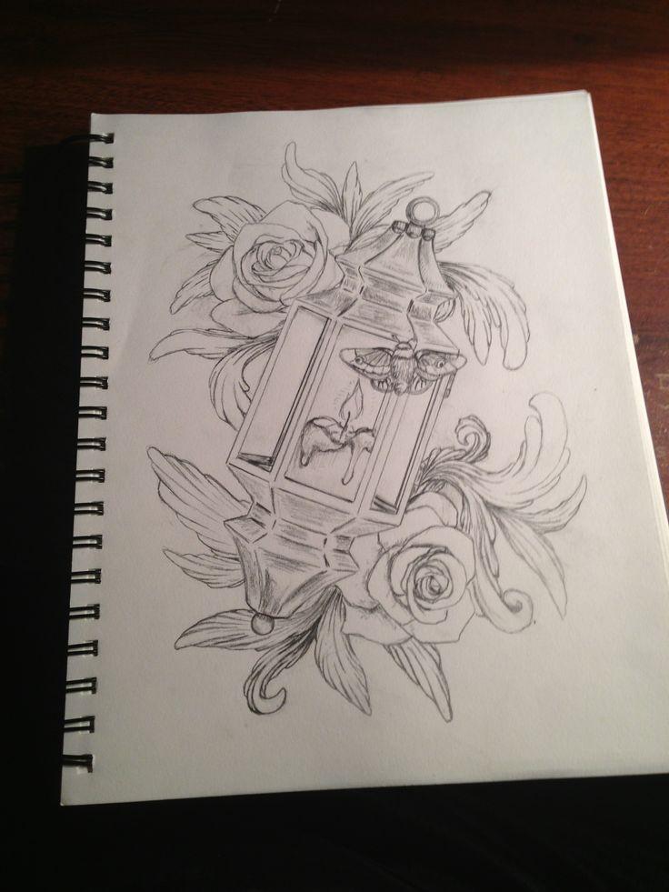 Lantern illustration inspired by tattoo design 25