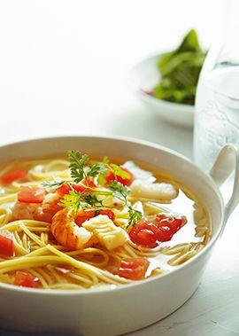 おいしい水×具材の旨味は極上スープ。最後のひと口まで味わって。