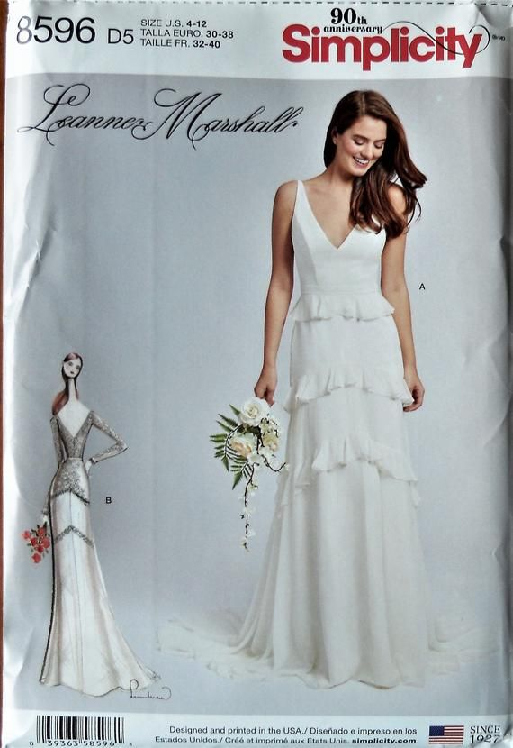 Simplicity 8596 Simplicity 0868 Bridal Gown Pattern Wedding