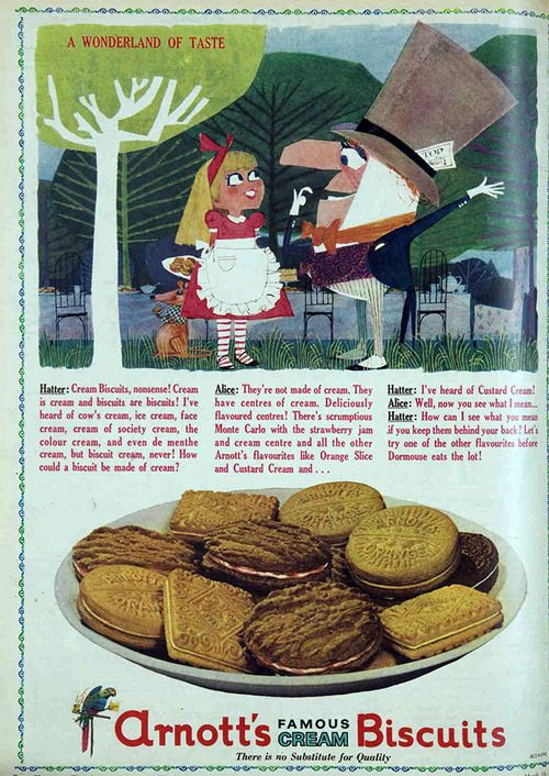 Arnotts biscuits, 1963 Australian ad for bikkies