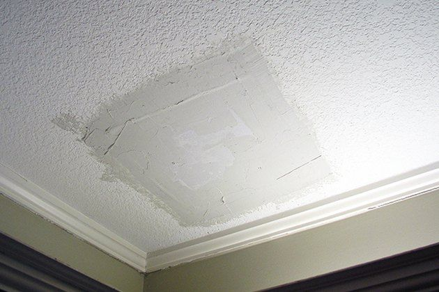 How To Patch A Hole In A Textured Ceiling Ceiling Texture Diy Repair Ceilings Repair Ceilings
