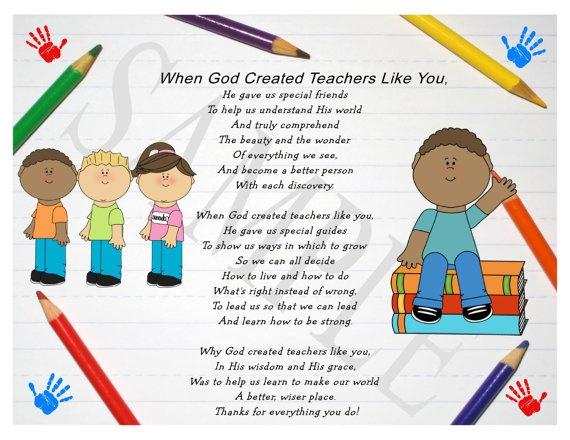 So God Made a Teacher