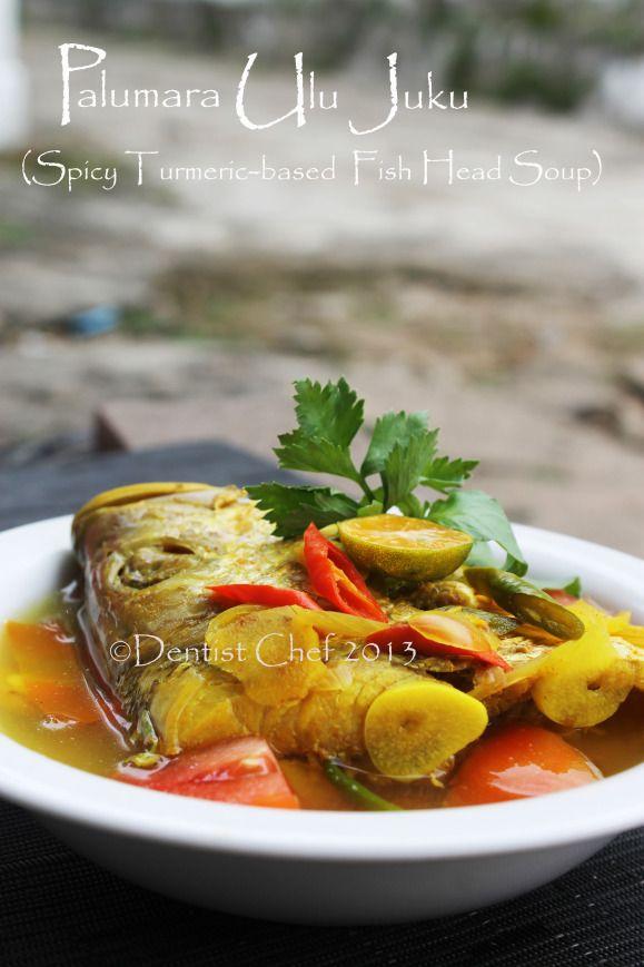 palumara red snapper fish head soup turmeric yellow ikan bumbu kuning