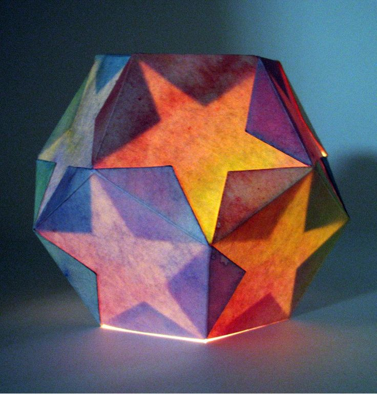 Star Lantern Kit -- you and your child can make a beautiful dodecahedron lamp -- waldorf inspired handwork project. $14.00, via Etsy.
