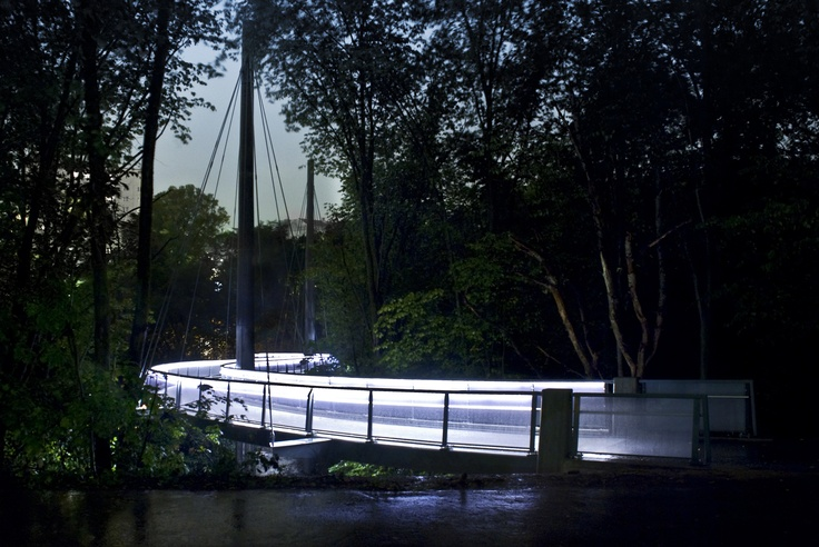 Jerusalem #bridge is a new  pedestrian and cycle connection over the Aker River. #Bridge Oslo