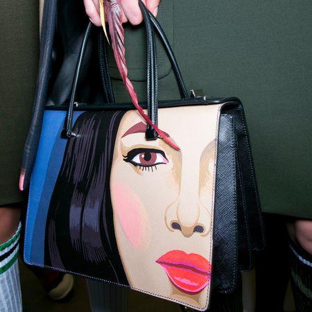 Prada face mural tote bag for ss14 - best designer handbags for spring summer 2014 - womans face printed handbag.jpg