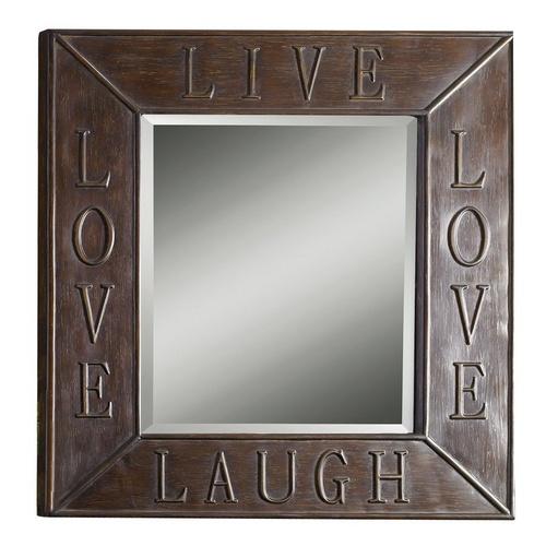 Allen X Live Laugh Love Rectangular Wall Mirror   Lowes   Bath