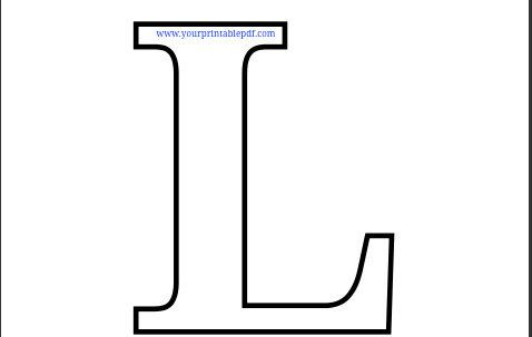 graphic regarding Large Printable Letters named Printable PDF Letter L Coloring Webpage Kiddie Coloring Webpages
