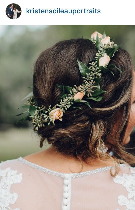 Simple flower crown-FLOWER GIRL