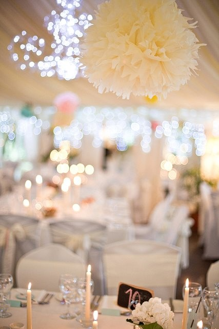 real irish wedding tissue pom poms decoration - Pom Pom Decorations