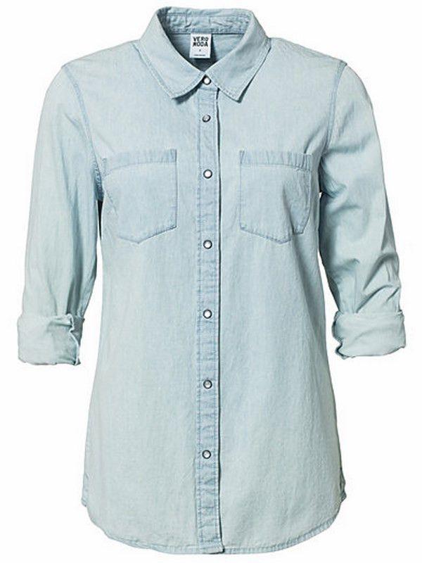 Miggo Denim Shirt | 27 Boutique Vero Moda is known for their amazing denim shirts, and the Miggo Denim Shirt is no exception!