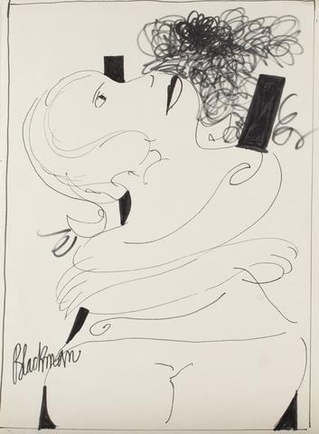 Charles Blackman 'Nostalgia' (1973) - ink on paper