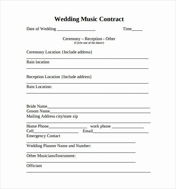 Wedding Song List Template Beautiful Sample Music Contract Template 22 Free Documents In Pdf Contract Template Wedding Song List Pool Party Invitation Template
