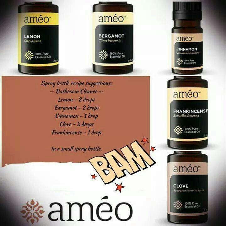 Ameo Essential Oils Bathroom Cleaner Recipe Zija Pinterest Bathroom Essential Oils And